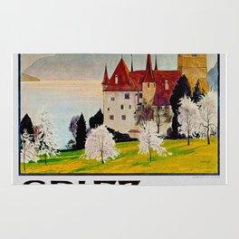 Spiez Switzerland - Vintage Travel Poster Rug