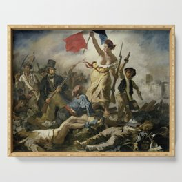 Liberty Leading the People (High Resolution) Serving Tray