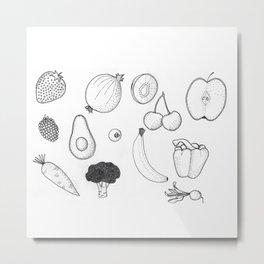 fruit & veg Metal Print