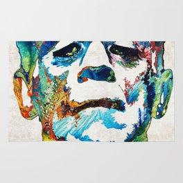 Frankenstein Art - Colorful Monster - By Sharon Cummings Rug