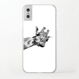 Black and white giraffe Clear iPhone Case
