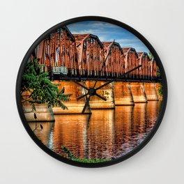 Brawny Crossings Wall Clock