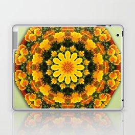 Floral mandala-style, California Poppies Laptop & iPad Skin