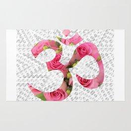 Aum Rose Silver Mandala Rug