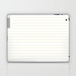 Horizontal Lines (Beige/White) Laptop & iPad Skin