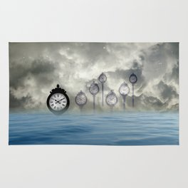 Time is floating Rug