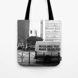 New York Post Truck, Manhattan Tote Bag