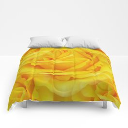 Modern Abstract Seamless Yellow Rose Petals Comforters