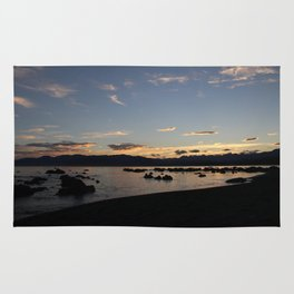 Kaikoura sunset Rug