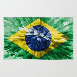 Extruded flag of Brazil Rug