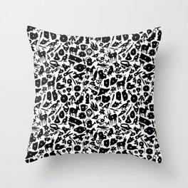 Alphabet Compendium Letter Silhouette Pattern Throw Pillow