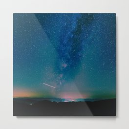 Desert Summer Milky Way Metal Print