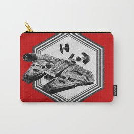 Millennium Falcon TIE Fighter Dotwork - Pointillism Art Carry-All Pouch