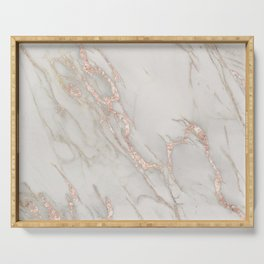 Marble Rose Gold Blush Pink Metallic by Nature Magick Serving Tray