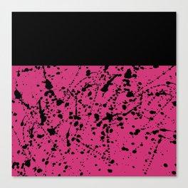 Splat Black On Yarrow Boarder Canvas Print