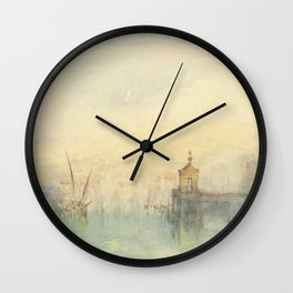 """J.M.W. Turner """"Venice: The New Moon – The Dogana from the steps of The Hotel Europa"""" Wall Clock"""