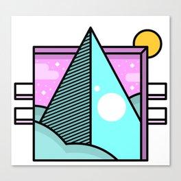 Retro Pop Pyramid Canvas Print