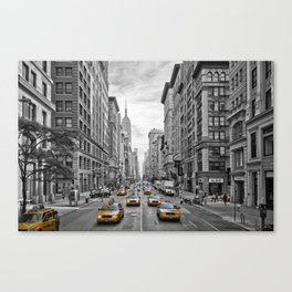 5th Avenue NYC Traffic Canvas Print