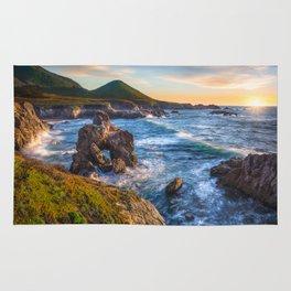 Soberanes Point Sunset, Big Sur Rug