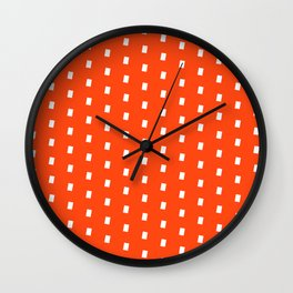 Orage White Pattern Wall Clock