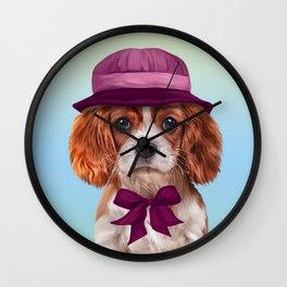 Drawing dog breed Cavalier King Charles Spaniel Wall Clock