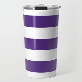Regalia - solid color - white stripes pattern Travel Mug