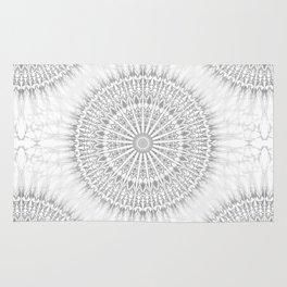 Gray White Mandala Rug