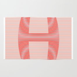 H from 36 Days of Type   2016 Rug