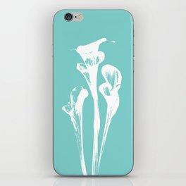 Calla Lily - Aqua iPhone Skin