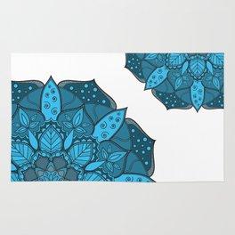 Blue Mandala design, Mandala texture, Simple design Rug