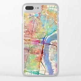 Philadelphia Pennsylvania City Street Map Clear iPhone Case