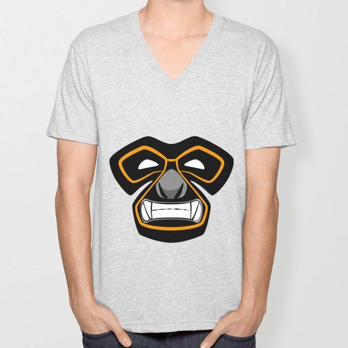Gibbon Wrestler Unisex V-Neck