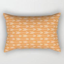 Orange Arrow Boho Tribal Print Rectangular Pillow