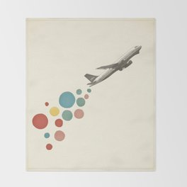 Leaving on a Jet Plane Throw Blanket