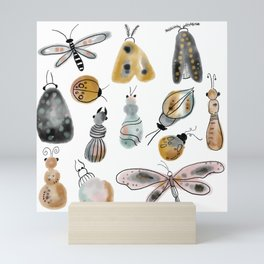 busy bugs Mini Art Print
