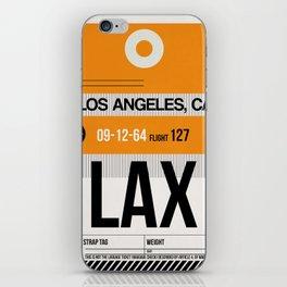 LAX Los Angeles Luggage Tag 2 iPhone Skin