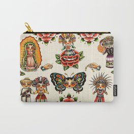 Mexican Dolls Flash Prints Carry-All Pouch
