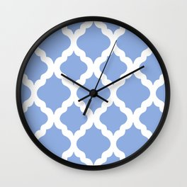Blue rombs Wall Clock