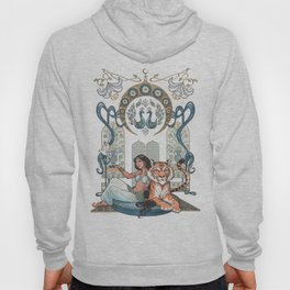 Every Girl Is A Princess 03: Arabian Nights Art Nouveau Aladdin's Princess Jasmine and Rajah Hoody