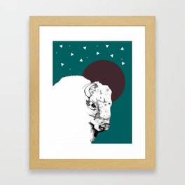 Buffalo dreams Framed Art Print