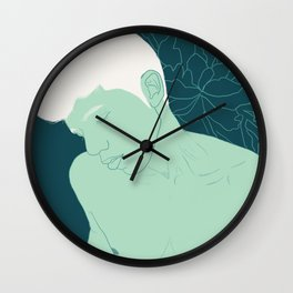 Succulent Boy Wall Clock