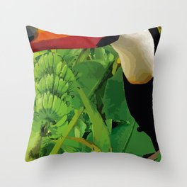 Brasil Tropical Throw Pillow