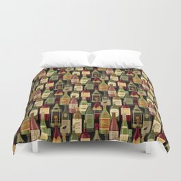 Wine Bottles Duvet Cover