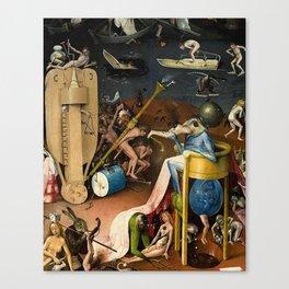 The Garden of Earthly Delights Bosch Hell Bird Man Canvas Print