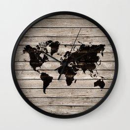 Vignette world map Wall Clock