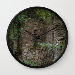 Derelict Cottage Wall Clock