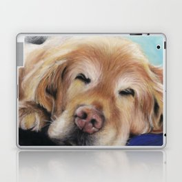 Sweet Sleeping Golden Retriever Puppy by annmariescreations Laptop & iPad Skin