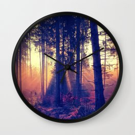 one morning in the middle of the forest Wall Clock