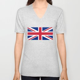 Union Jack, Authentic color and scale 1:2 Unisex V-Neck