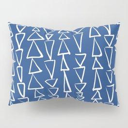 Blue Jazz Triangles Pillow Sham